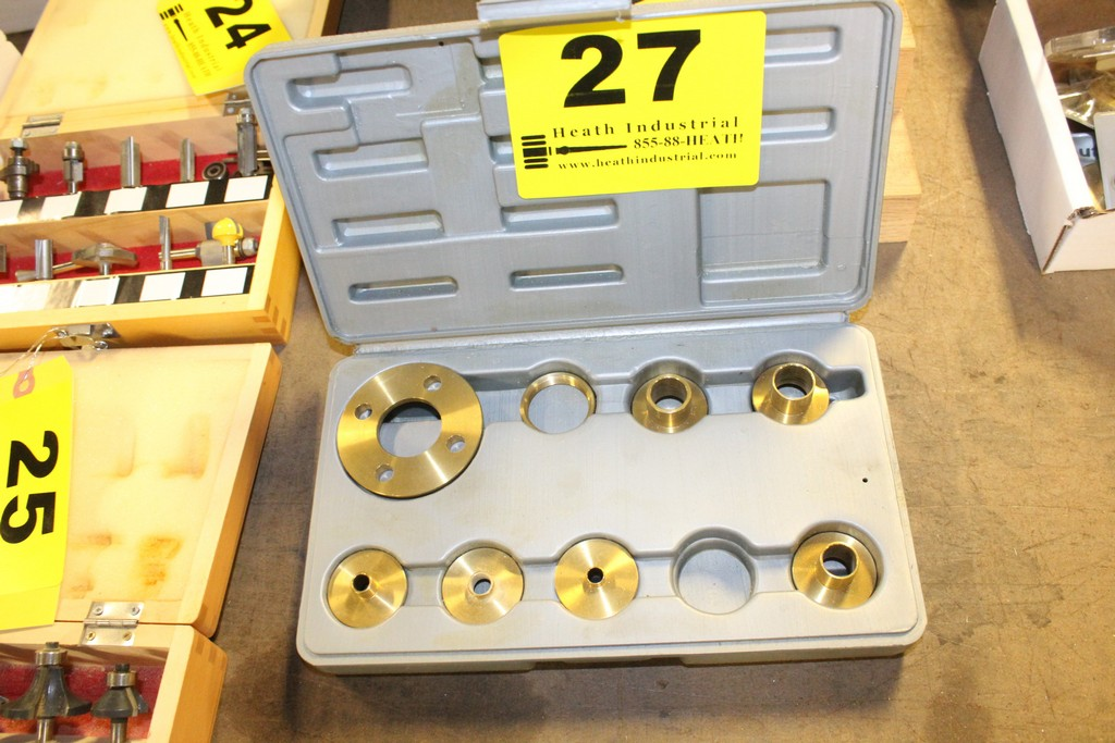 Lot 27 - ASSORTED ROCKLER ROUTER COLLARS IN CASE
