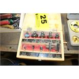 """CRAFTSMAN ASSORTED ROUTER BITS IN WOOD CASE, 1/4"""" SHANK"""
