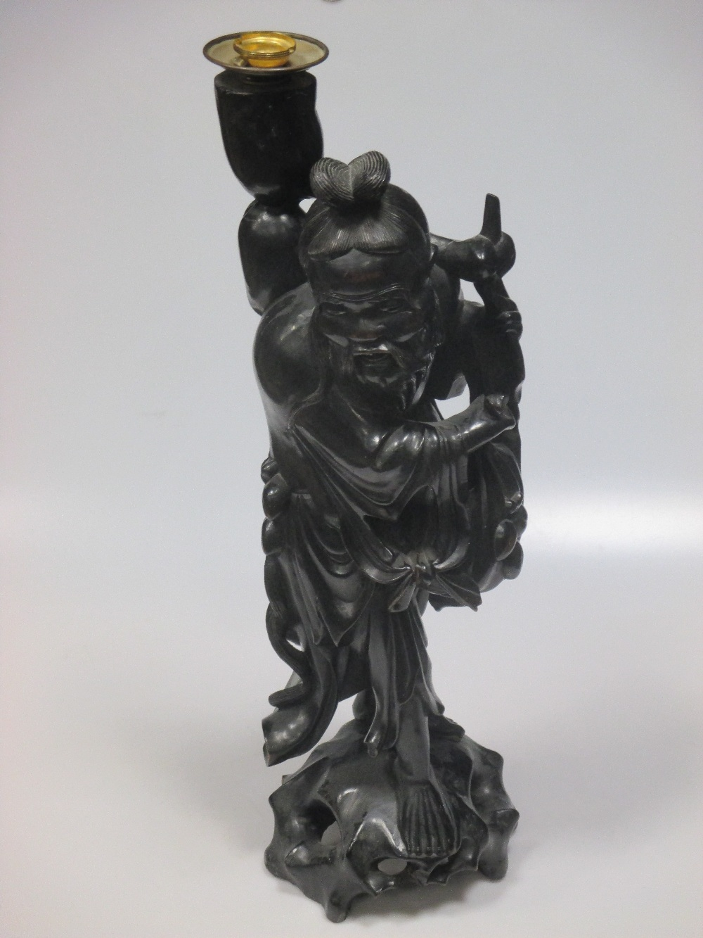 Lot 54 - Chinese carved wood figures of The Immortals (6)