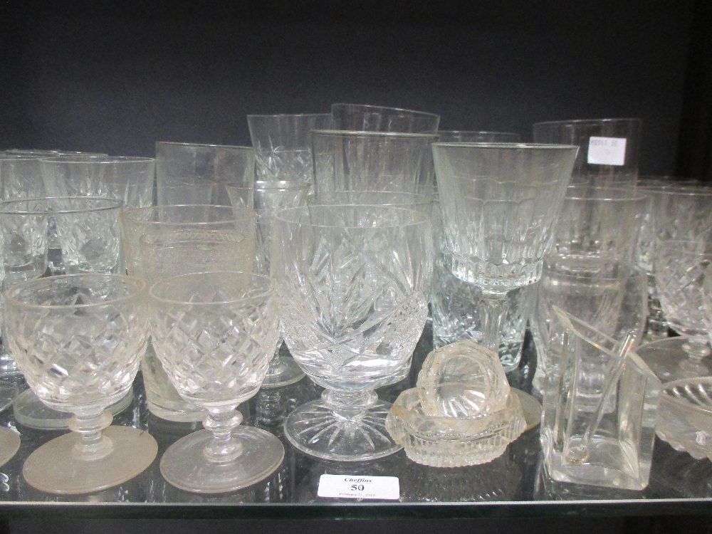 Lot 50 - A collection of 19th century and later glassware