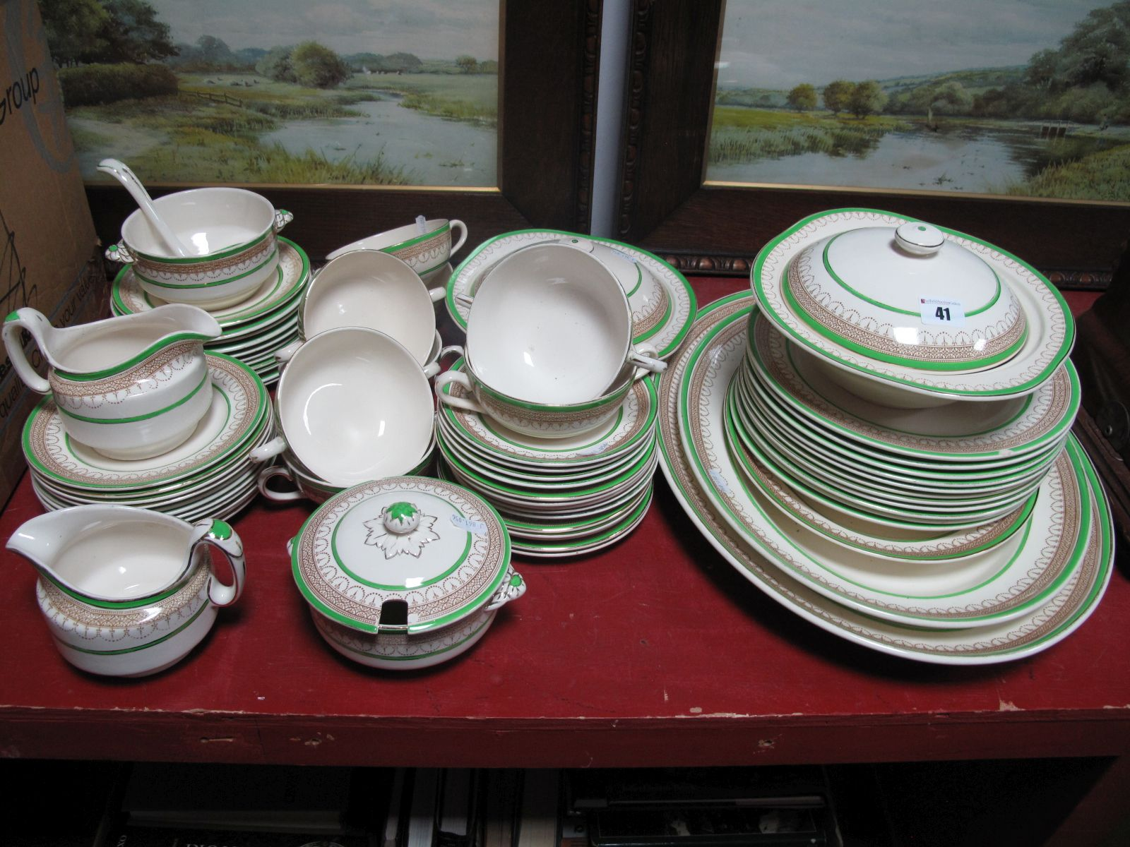 Lot 41 - Losol Claremont Dinner Ware, of approximately sixty-three pieces.