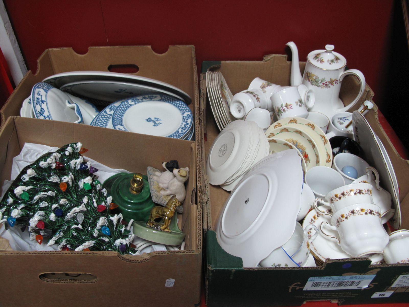 Lot 16 - Johnson 'Exeter' Dinner Ware, standard 'Lyndale' coffee ware, Crown tea ware, Doulton Bunnykins,