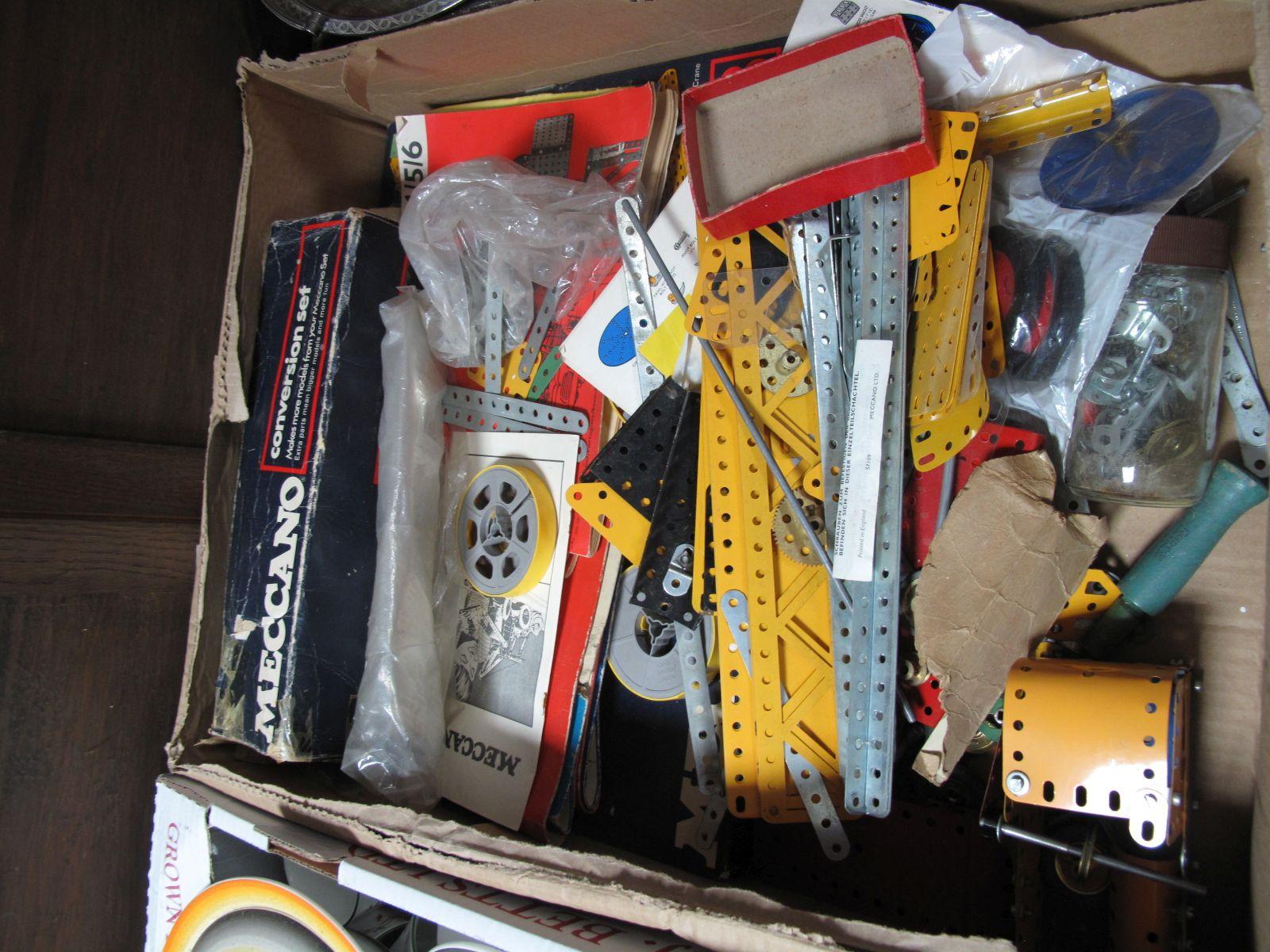 Lot 51 - Meccano Conversion Set, construction set and accessories:- One Box