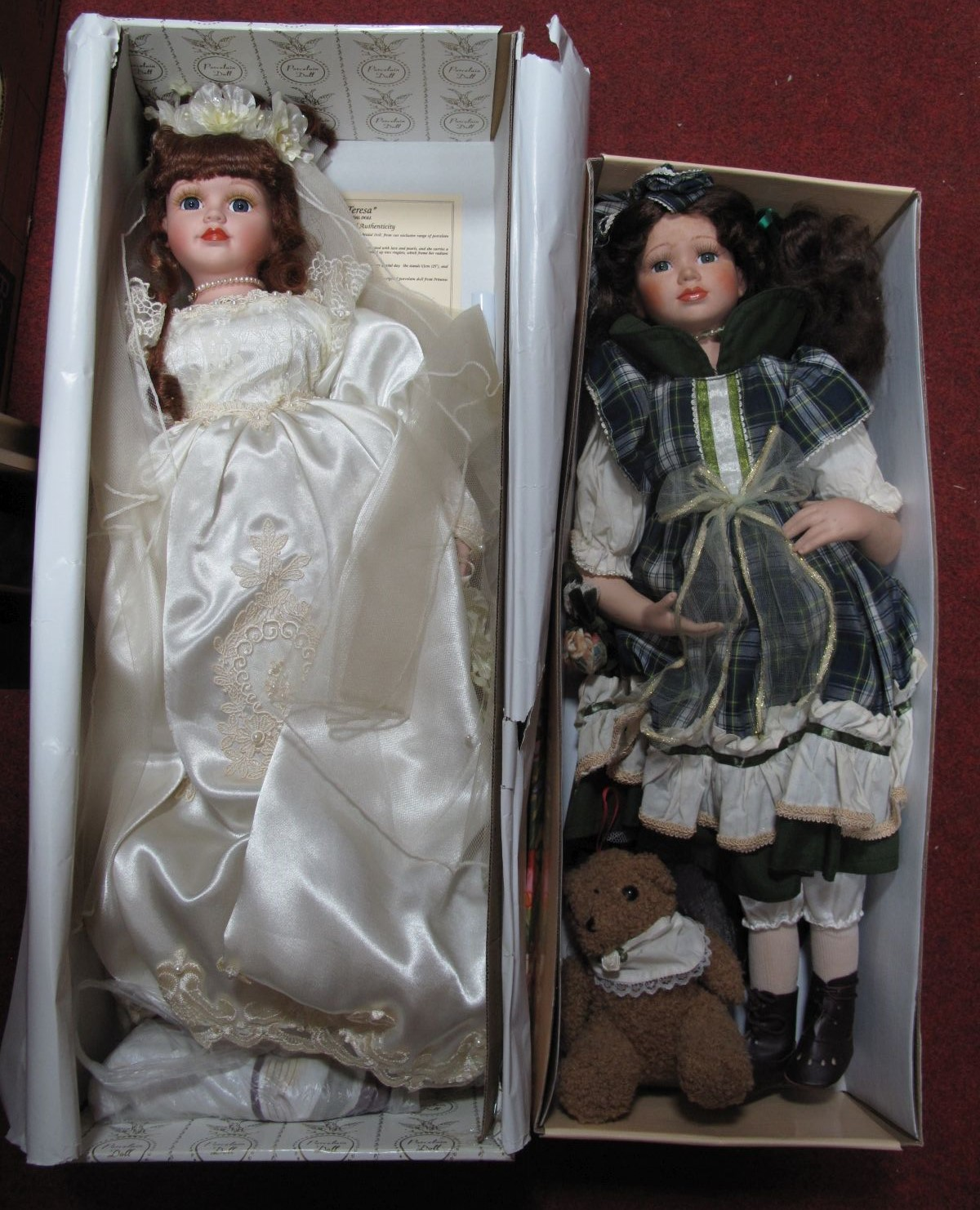 Lot 18 - Porcelain Doll ' Knightsbridge Collection' Helen, together with one other.