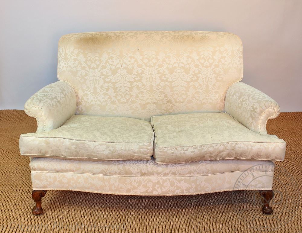 An early 20th century two seater settee and matching arm for Matching arm chairs