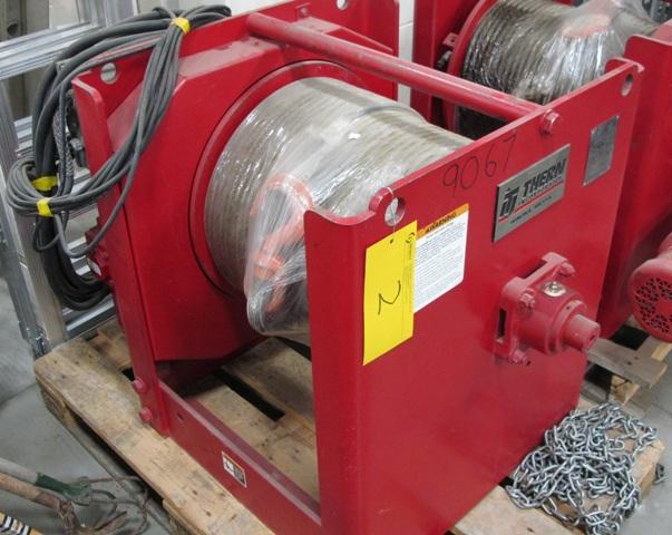 "THERN INC 4WS9M181-10000-10-E ELECTRIC WINCH, 5/8"" CABLE, 230 VOLT, PENDANT CONTROL, 10000 LB"