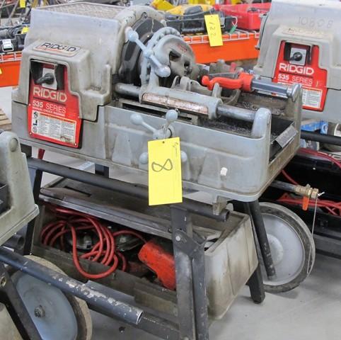 RIDGID 535 MANUAL CHUCK PIPE THREADER, S/N EBE0458-0205