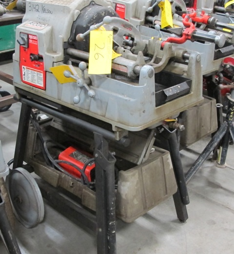 Lot 26 - RIDGID, 535 SERIES, POWER PIPE THREADER W/FOOT CONTROL, 115 VOLT, S/N EBE 01497-101 (NO DIES)