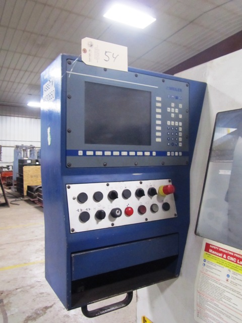 Lot 54 - Weiler E70/3000 Large Bore CNC Flat Bed Lathe with 8-3/4'' Thru-Hole, Front 23-1/2'' 4-Jaw Chuck,