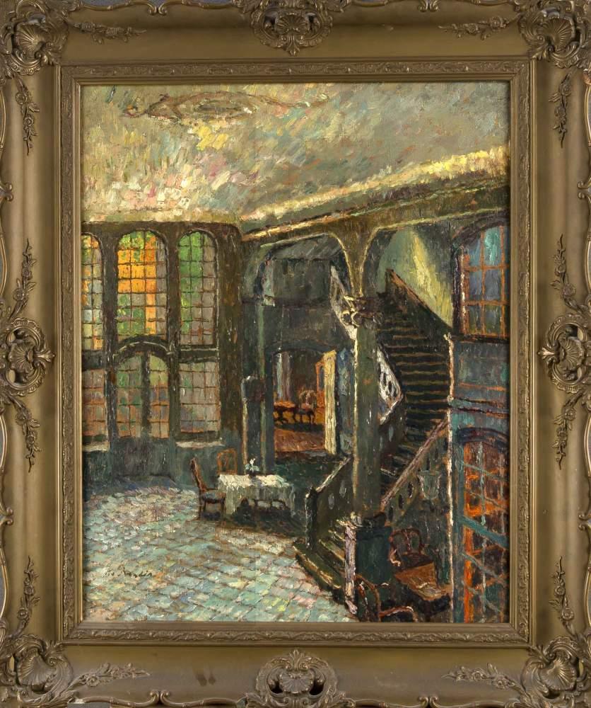 Interieurmalerei  August von Brandis (1862-1947), bedeutender, dt. Interieurmaler ...
