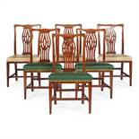SET OF EIGHT GEORGIAN STYLE DINING CHAIRS EARLY 20TH CENTURY