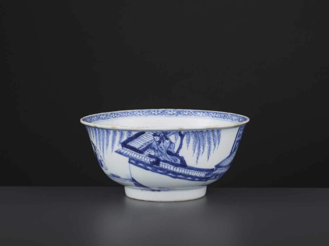 A BLUE & WHITE BOWL, KANGXI - Bild 2 aus 9