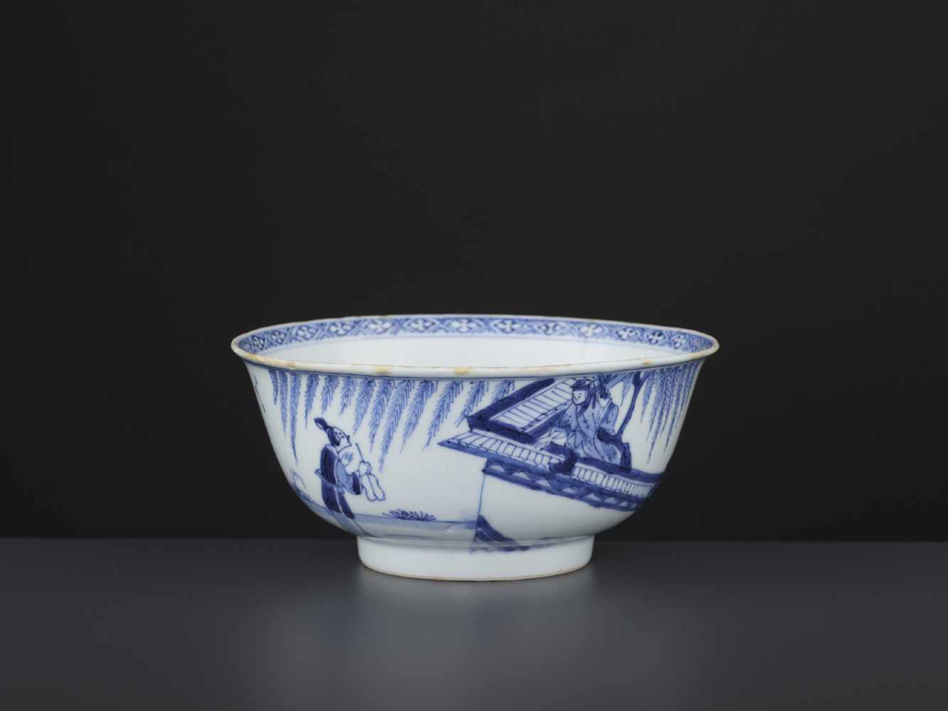 A BLUE & WHITE BOWL, KANGXI