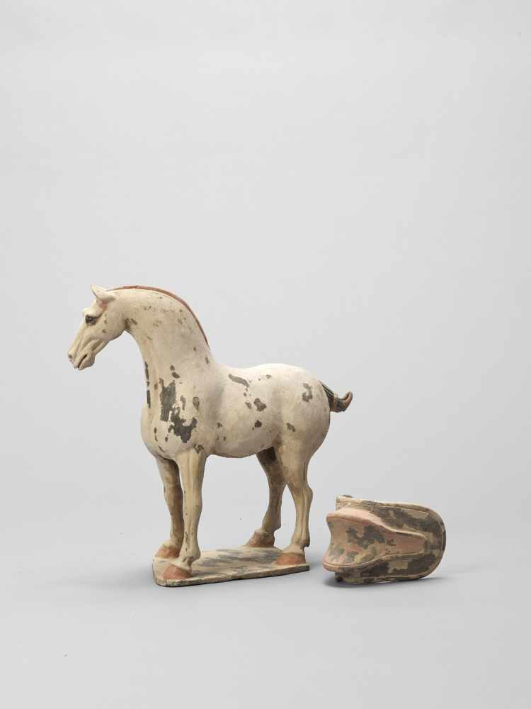 A TL-TESTED TERRACOTTA MODEL OF A HORSE, EARLY TANG - Bild 3 aus 6