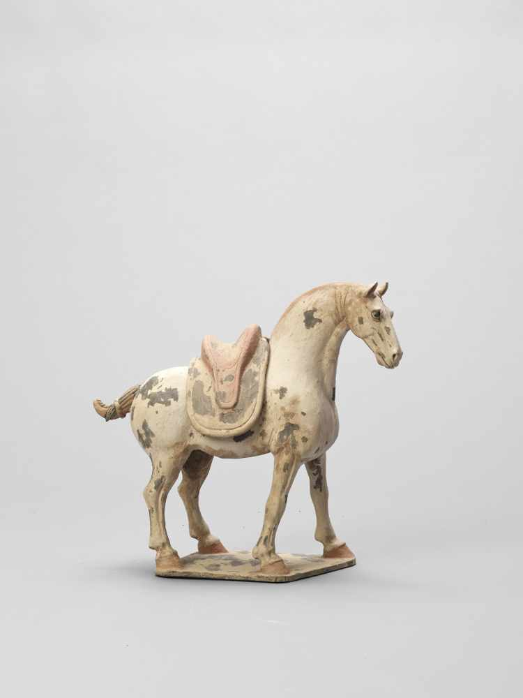 A TL-TESTED TERRACOTTA MODEL OF A HORSE, EARLY TANG
