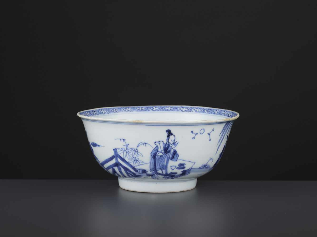 A BLUE & WHITE BOWL, KANGXI - Bild 5 aus 9