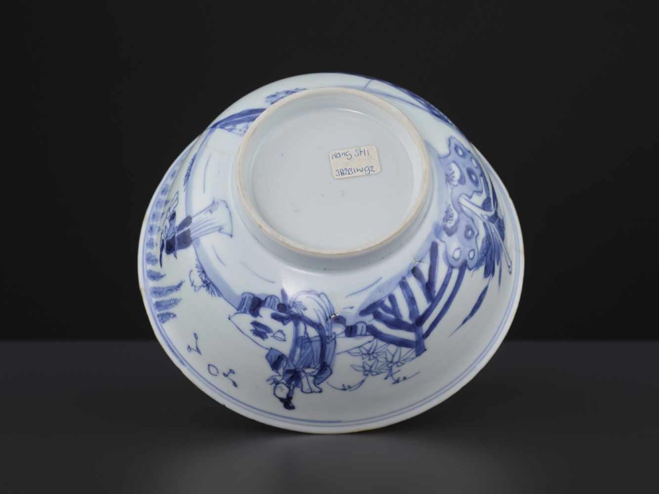 A BLUE & WHITE BOWL, KANGXI - Bild 8 aus 9