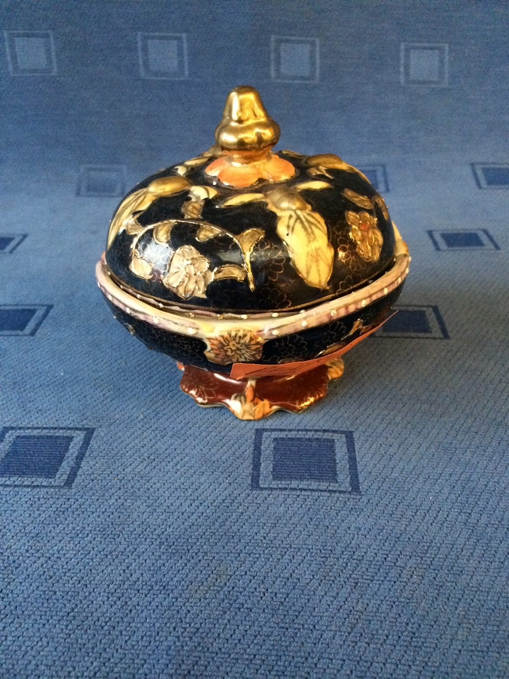 Lot 31 - Satsuma ware lidded pot