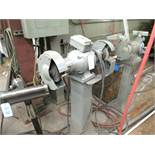 Pedestal Grinder with Wire Brush & Grinding Stone