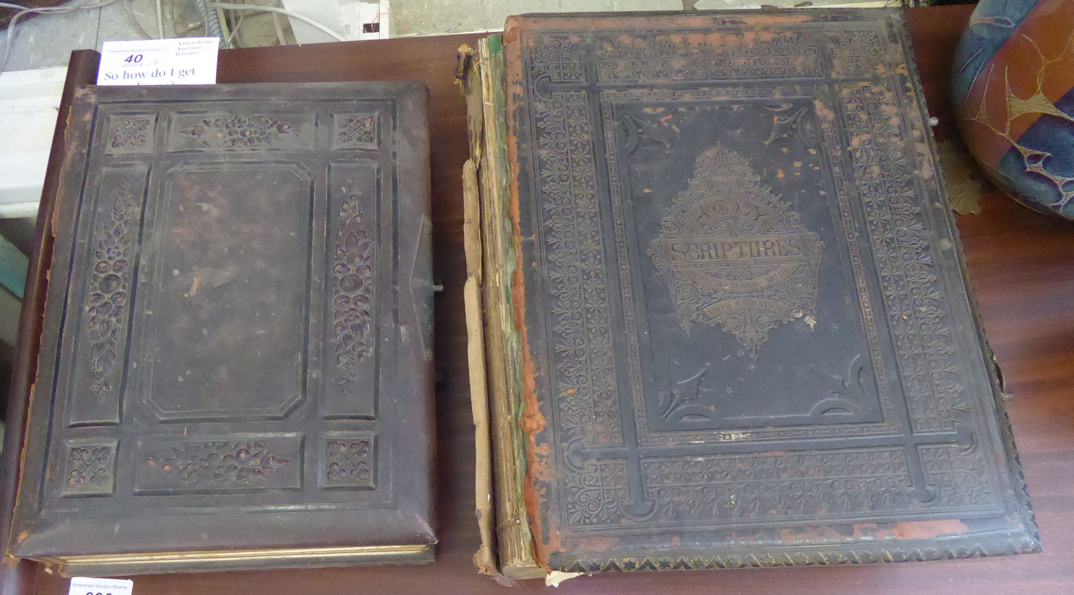 Lot 40 - A late Victorian illustrated family Bible,