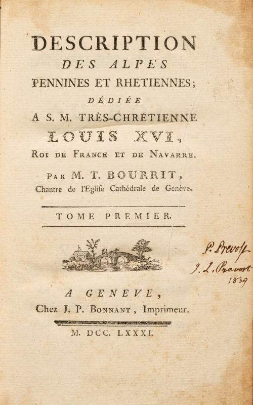 BOURRIT. Description des Alpes pennines et rhétiennes. J. P. Bonnant. Genève. 1781. 1 vol. in-8° - Image 3 of 3