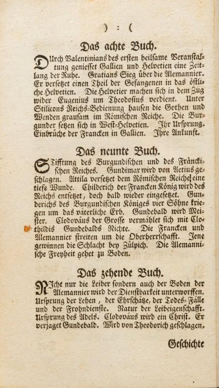 HELVETICA. LAUFFER (Jacob). Genaue und umständliche Beschreibung Helvetischer Geschichte. Zurich. Be - Image 5 of 5
