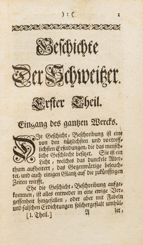 HELVETICA. LAUFFER (Jacob). Genaue und umständliche Beschreibung Helvetischer Geschichte. Zurich. Be - Image 3 of 5