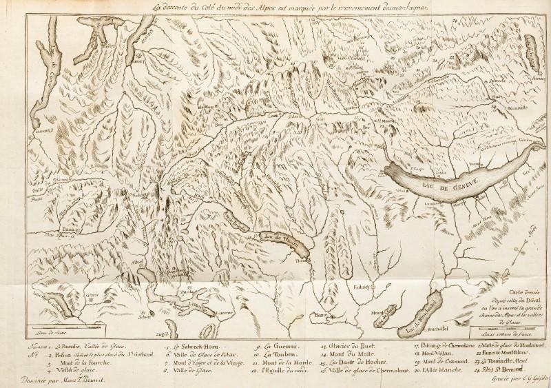 BOURRIT. Description des Alpes pennines et rhétiennes. J. P. Bonnant. Genève. 1781. 1 vol. in-8°