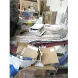 Pallet of mixed Loose and packaged items which includes things such as security light, Wind