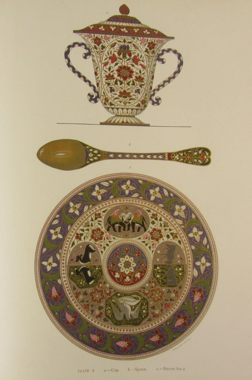 Jacob, S.S. and T.H. Hendley  Jeypore enamels. London: W. Griggs, 1886. Folio, 28 chromolithographed - Image 4 of 7