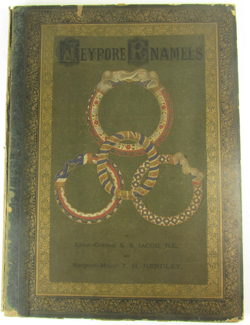 Jacob, S.S. and T.H. Hendley  Jeypore enamels. London: W. Griggs, 1886. Folio, 28 chromolithographed - Image 7 of 7