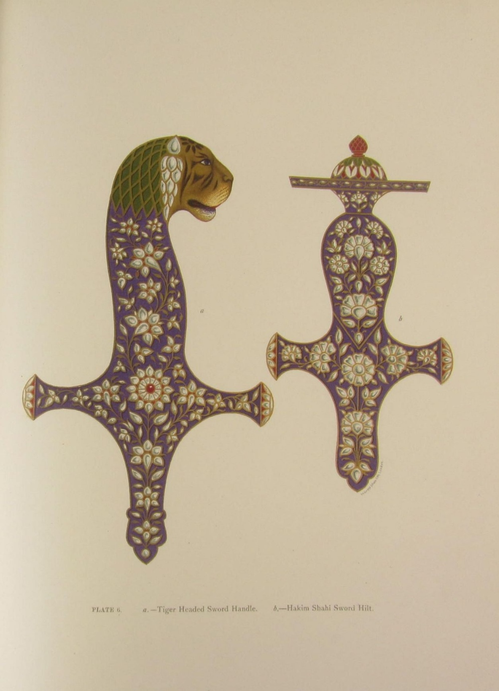 Jacob, S.S. and T.H. Hendley  Jeypore enamels. London: W. Griggs, 1886. Folio, 28 chromolithographed - Image 3 of 7