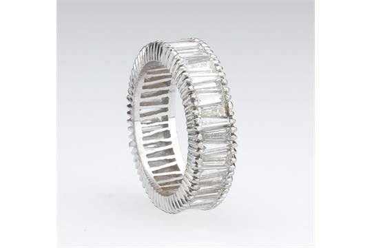 eternity bands diamond wedding platinum womens rings baguette band