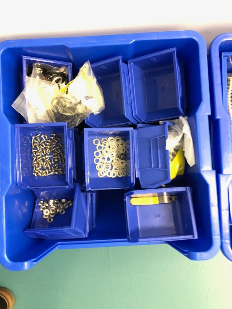 Lot 31 - BLUE BINS (CONTENTS INCLUDED)