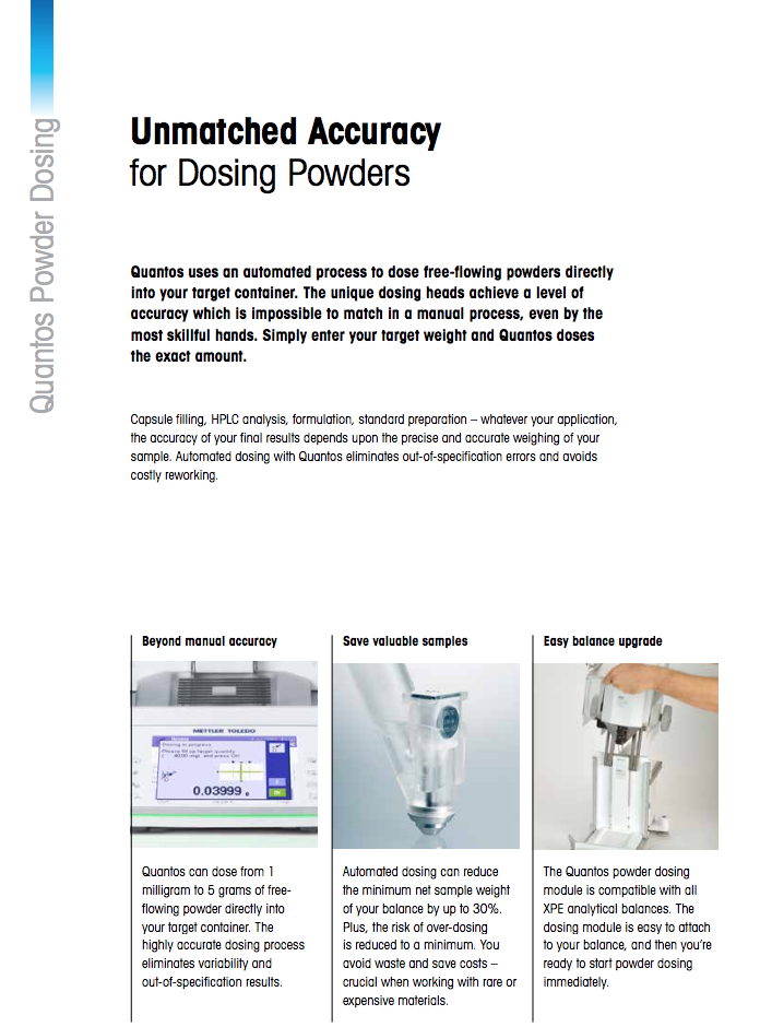Lot 1B - Quantos Powder Dosing System By Mettler Toledo