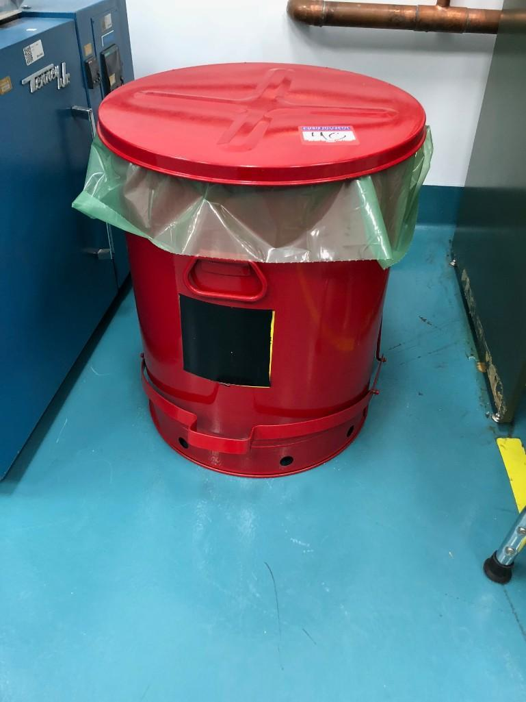 Lot 40 - Red Trash Bin for Flammable Rags