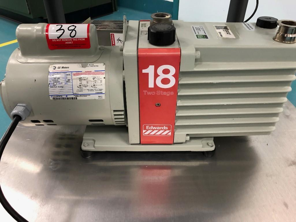 Lot 38 - Edwards Stage Two Vacuum pump system