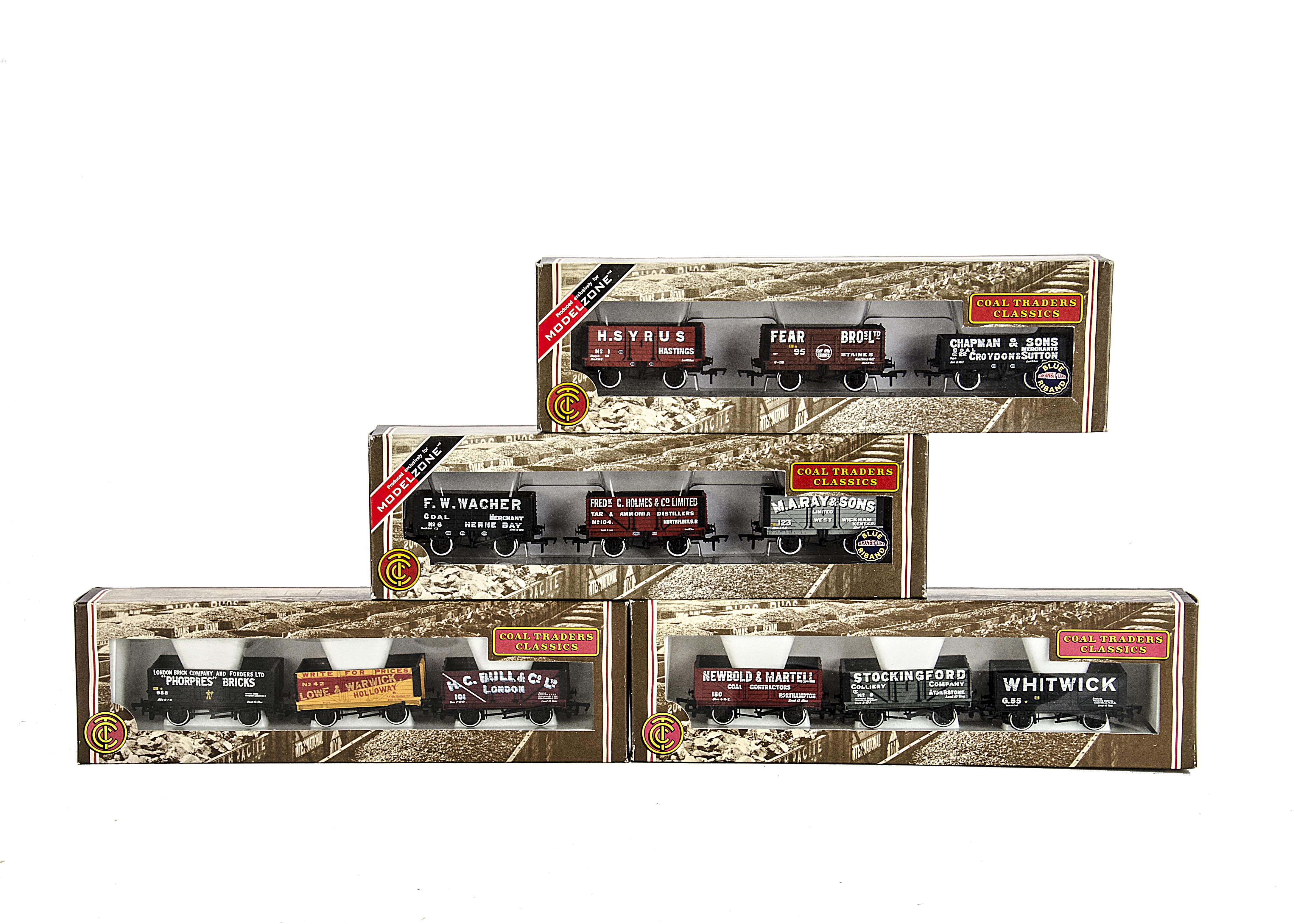 Bachmann 00 Gauge Freight Stock: Four \'Coal Trader Classics\' 3-wagon ...