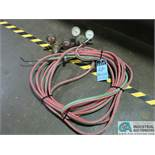 (LOT) ACETYLENE TORCH WITH HOSES AND GAGES