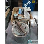 (LOT) SMALL BALL MILL AND BOX OF TRANSFORMERS