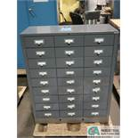 (LOT) 27-DRAWER CABINET AND (2) CARD FILES