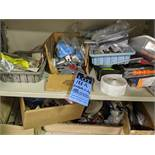 Contents of Cabinet, miscellaneous parts and supplies. * NO CABINET