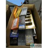 (LOT) ASSORTED CEMENTED TOOL CUTTERS AND CARBIDE INSERTS