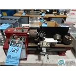 "7"" X 10"" CENTRAL MACHINERY BENCH TYPE PRECISION MINI LATHE WITH TOOLPOST AND (2) EXTRA CHUCKS, 0-2,"