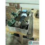 """(LOT) ASSORTED LATHE TOOLING INCLUDING 8"""" FACE PLATE, (2) TOOL POSTS, DIVIDING HEAD PLATES"""