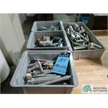 (LOT) ASSORTED BIMBA ACTIVATORS AND VALVES IN (4) CONTAINERS, APPROX. (50) PIECES