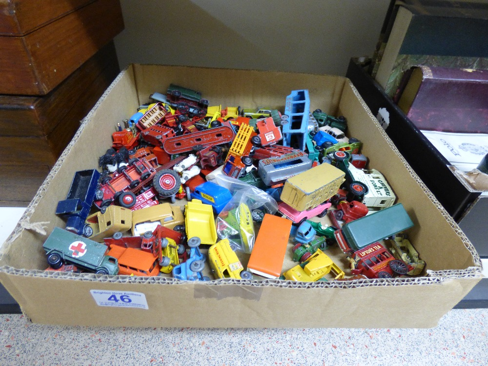 Lot 46 - QUANTITY OF DIE CAST TOY VEHICLES INCLUDING MATCHBOX & LESNEY