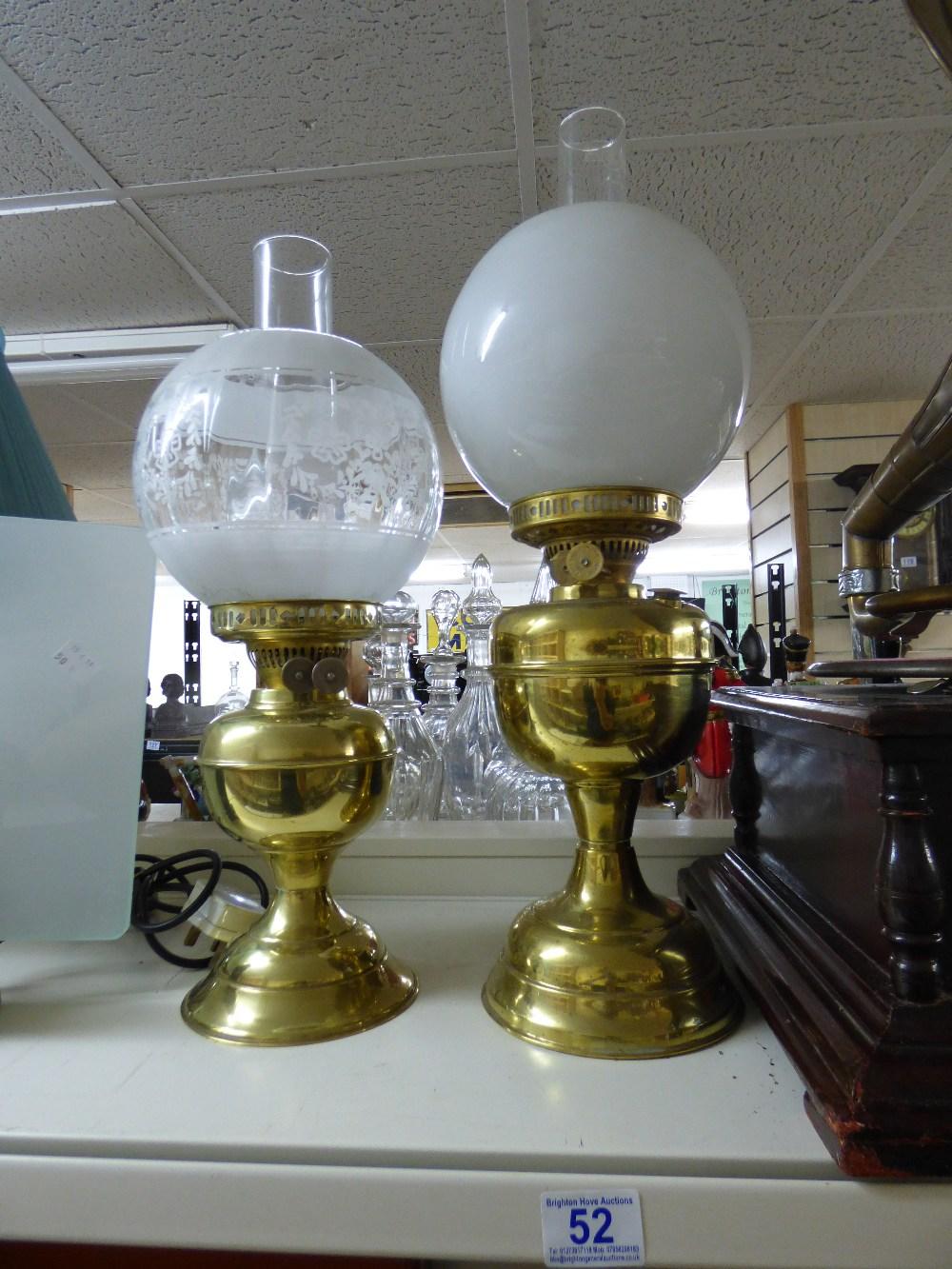 Lot 52 - 2 X OIL LAMPS