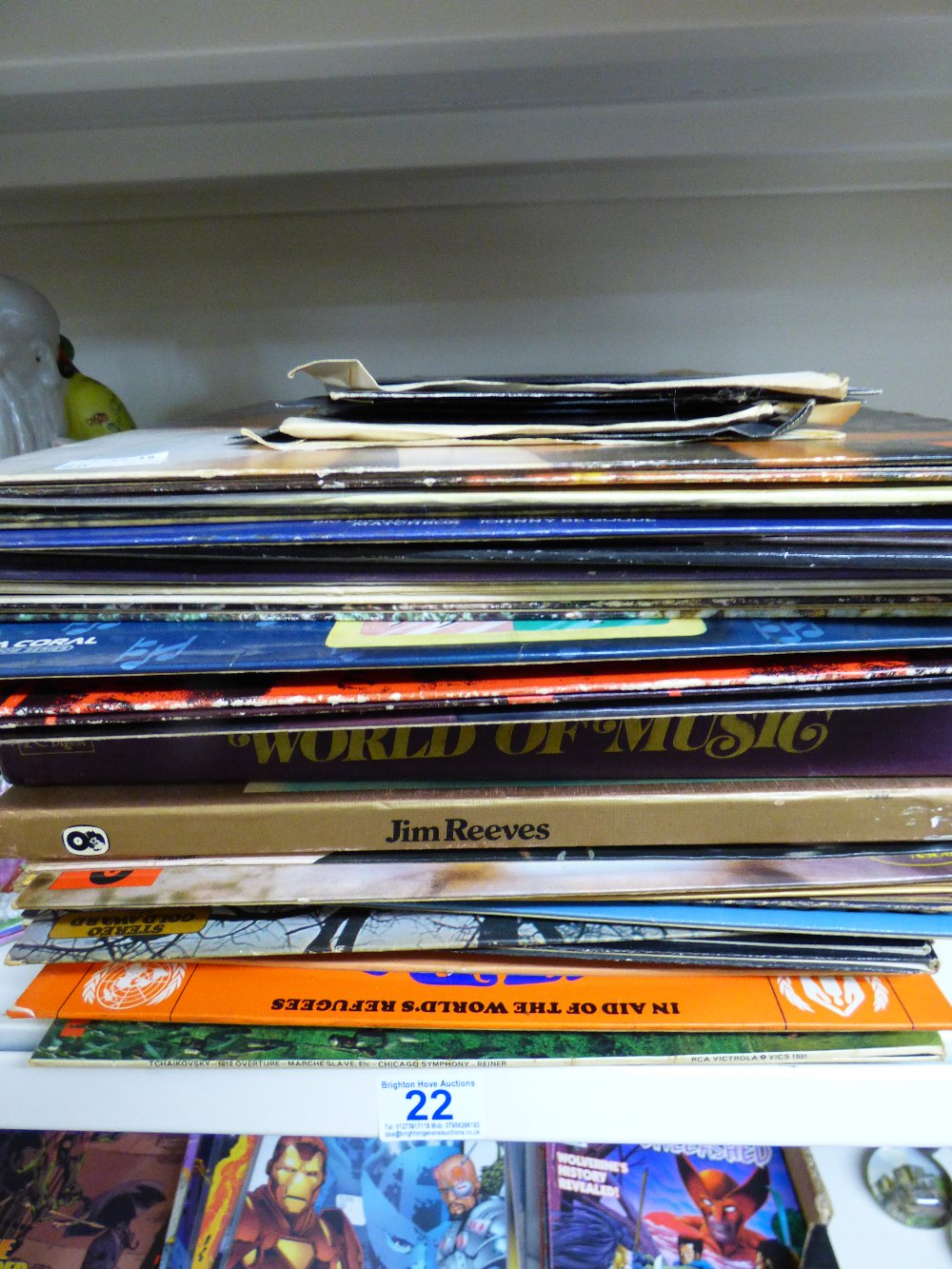 Lot 22 - QUANTITY OF VINYL ALBUMS & 7 inch SINGLES INCLUDING SLADE & JERRY LEE LEWIS