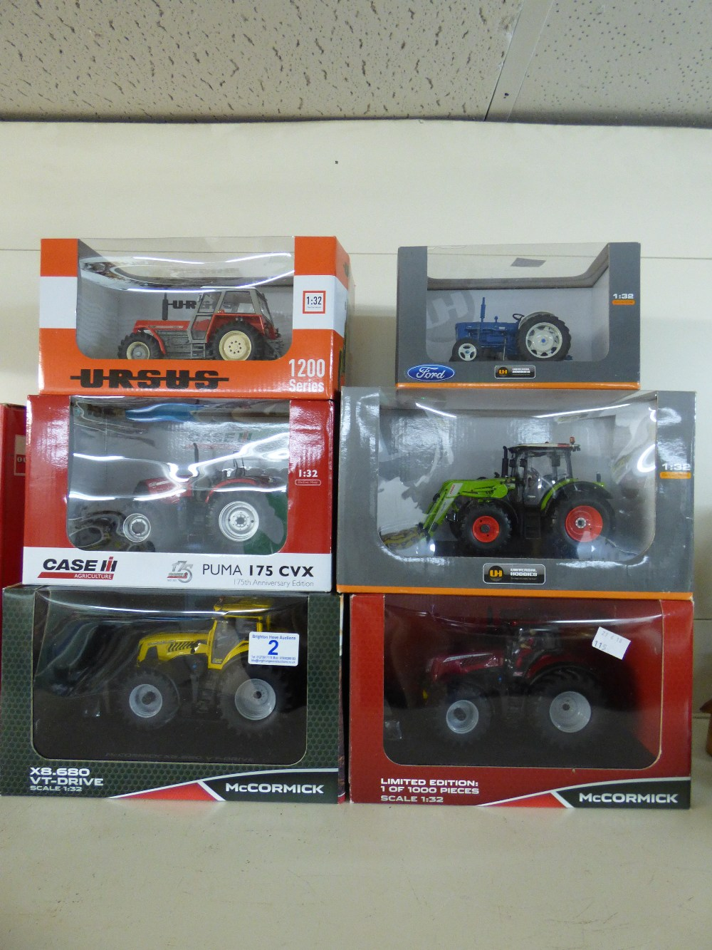Lot 2 - COLLECTION OF BOXED UNIVERSAL HOBBIES DIE CAST AGRICULTURAL MODEL VEHICLES